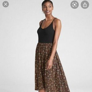 Gap mixed media cami maxi dress